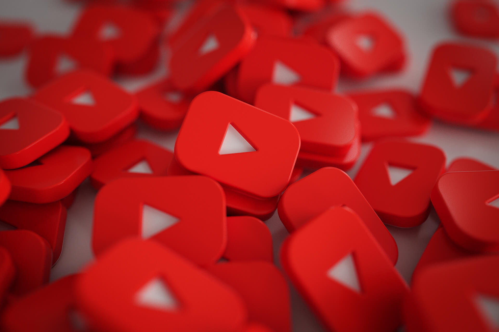 pile 3d play button logos 1